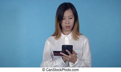 beau, usage, achats, femme, internet, coréen
