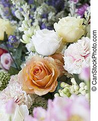 beau, usage, fleur, nature, fleur, rose, bouquet, bonheur, fond, fleurs, toile de fond