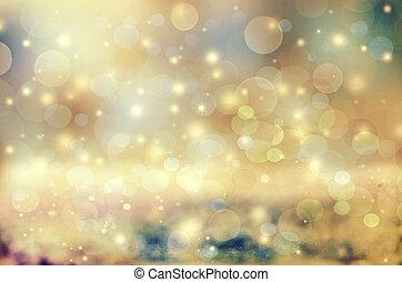 beau, vacances, magie, brillant, résumé, s'il vous plaît, bokeh., lumières, noël, fond, incandescent, autre, portefeuille, images., semblable, chèque