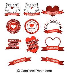 beau,  valentines, frontière, jour