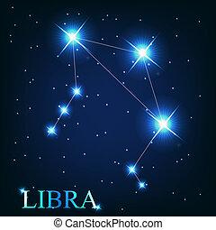 beau, vecteur, étoiles, ciel, cosmique, signe, clair, ...