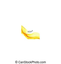 beau, vecteur, fond jaune, vague