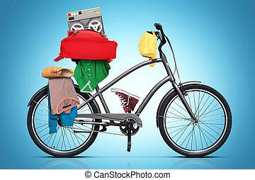 beau, ville, vélo