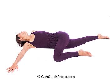 beau, yoga, exercice, femmes