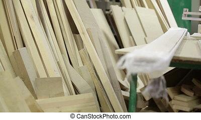 beaucoup, atelier, bois construction