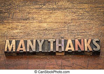 beaucoup, bois, type, remerciement, texte