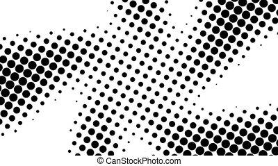 beaucoup, optique, render, fond, points, effet, engendré, toile de fond, similigravure, 3d, résumé, informatique, illusion