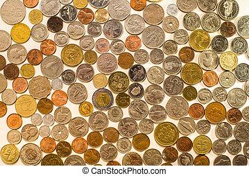 beaucoup, pièces, depuis, différent, pays, de, monde