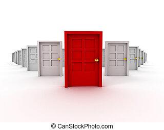 beaucoup, portes