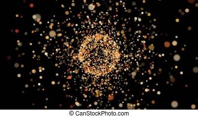 beaucoup, science., particles., atom., réaction, physique