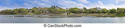 Beaufort South Carolina panorama - 180 degree panorama of...