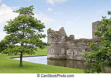 Beaumaris castle in north wales uk