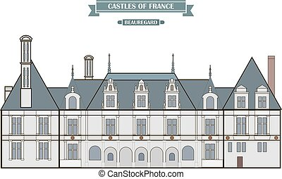 Beauregard, France. The medieval castle, a monument of architecture and history of France