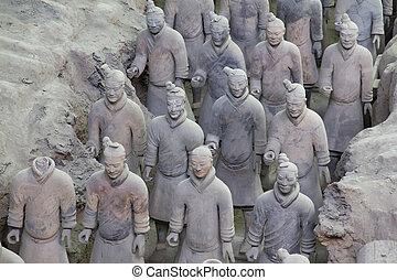 Xian, China - Beauriful view on the terracotta army in Xian...