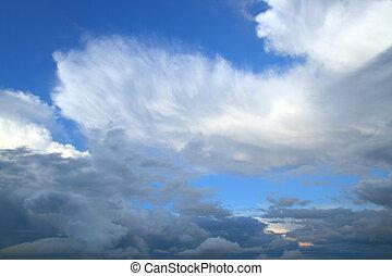 beauté, ciel, à, nuages