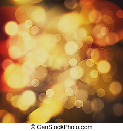 beauté, fête, résumé, lumières, bokeh, defocused, fond, noël