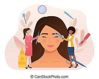 beauté, facial, soin, concept, routine, résumé