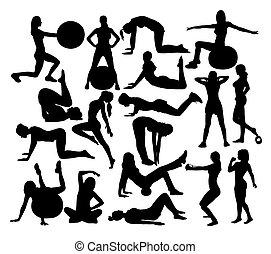 beauté, sport, silhouettes