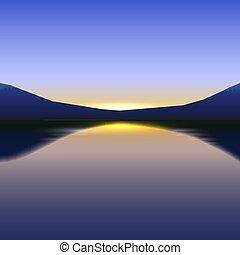 beauté, voyage, horizon, fond, sky.