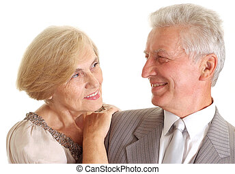 Beauteous elderly couple