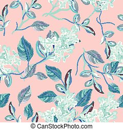 Beautfiul floral vector pattern with spring florals and flowers