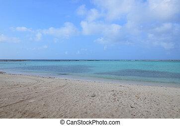 Beautful Cove of Baby Beach in Aruba