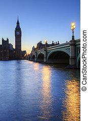 beautiffully, zaświecić, noc, cityscape, wliczając w to,...