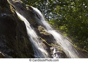 natural Waterfall in national park - beautifl natural...