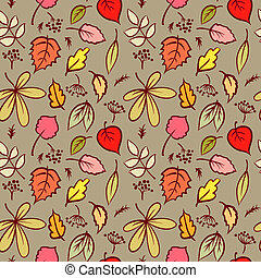 Seamless Pattern with Autumn Leaf