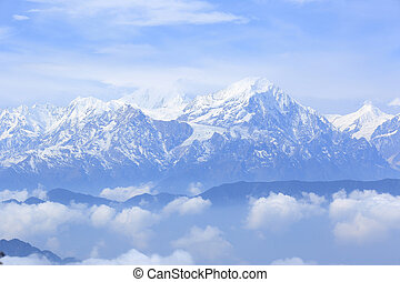 beautifu snow mountain landscape
