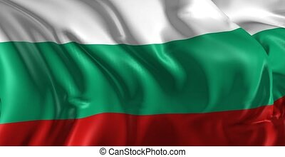 Beautiful 3d animation of the Flag of Bulgaria in loop mode