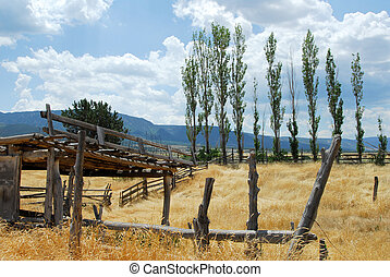 Beautiful abandoned ranchland in the southwest - Remains of ...