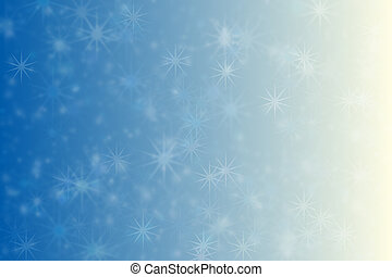 Beautiful abstract background. Bokeh and gradient transitions of blue and beige, star shaped pattern