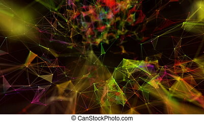 Beautiful abstract background. Colorful plexus.