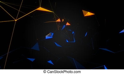 Beautiful abstract background. Colorful plexus. The concept of a holiday.