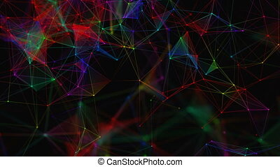Beautiful abstract background. Colorful plexus. The concept of a holiday. Loop animations.