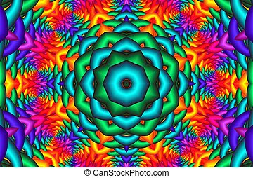 abstract background in the form of a fractal mandala