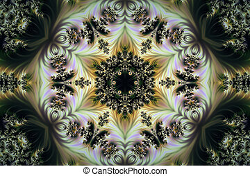 Beautiful abstract background of fractals with a circular ornament