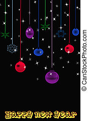 abstract background of new year lights