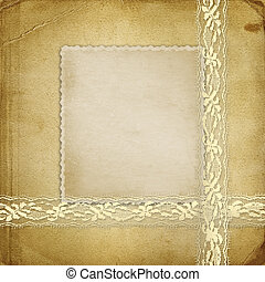 Beautiful abstract background with gold lace for...