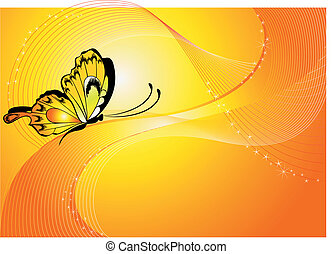 background with the butterfly
