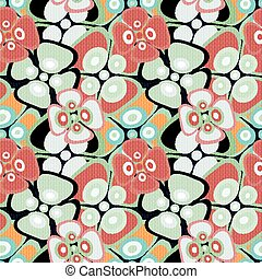 Beautiful abstract delicate flowers seamless pattern