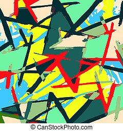Beautiful abstract gentle graffiti pattern vector...