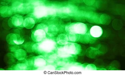 Beautiful abstract green bokeh background. 3840x2160