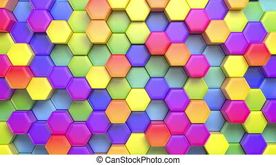 Beautiful Abstract Hexagonal Background - Beautiful Abstract...