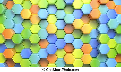 Beautiful Abstract Hexagonal Multicolored Background,...