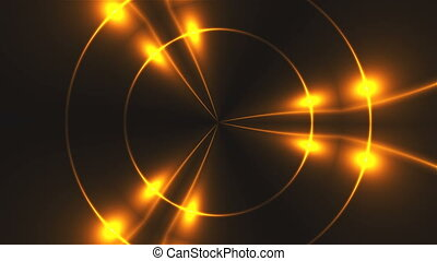 Beautiful abstract kaleidoscope - fractal golden light, 3d...