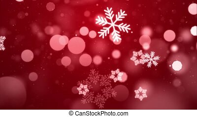 Beautiful Abstract light Red loopable winter falling ...
