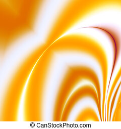 Beautiful abstract orange-red divorces and the smoothed lines on a white background