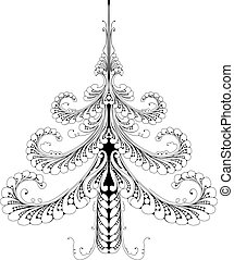 Beautiful abstract pattern Christmas tree
